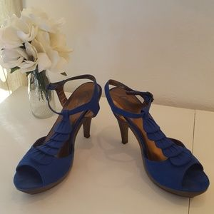 Suede Ruffle Sandal